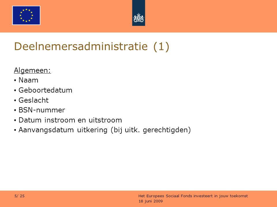 Deelnemersadministratie (1)