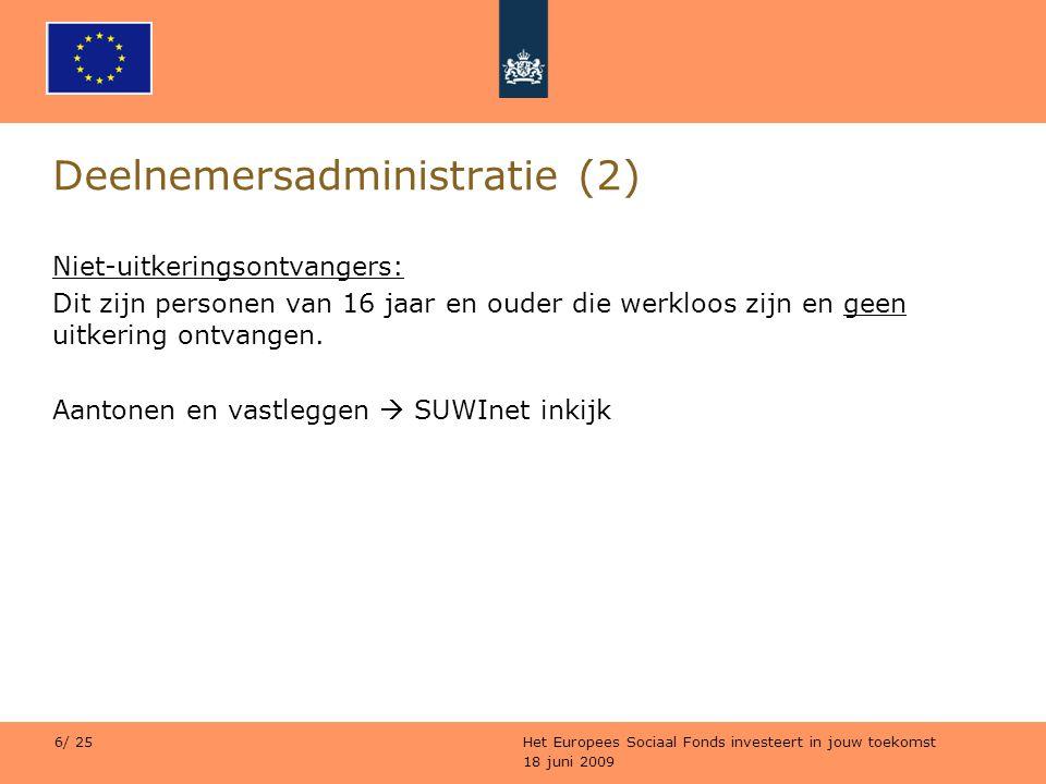 Deelnemersadministratie (2)