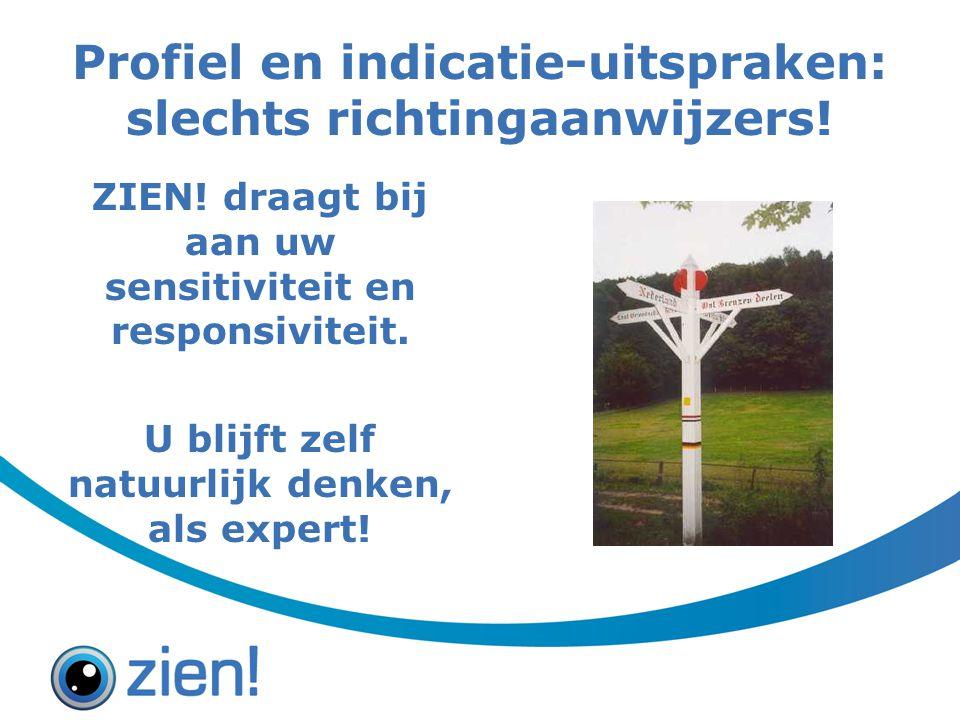 Profiel en indicatie-uitspraken: slechts richtingaanwijzers!