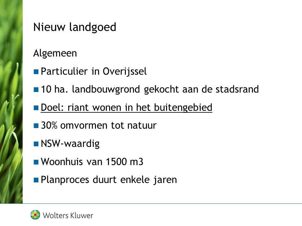 Nieuw landgoed Algemeen Particulier in Overijssel