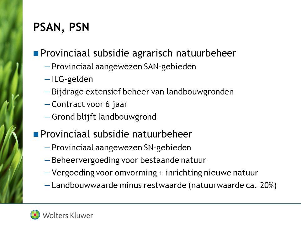 PSAN, PSN Provinciaal subsidie agrarisch natuurbeheer