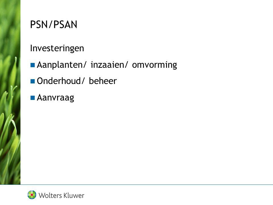 PSN/PSAN Investeringen Aanplanten/ inzaaien/ omvorming
