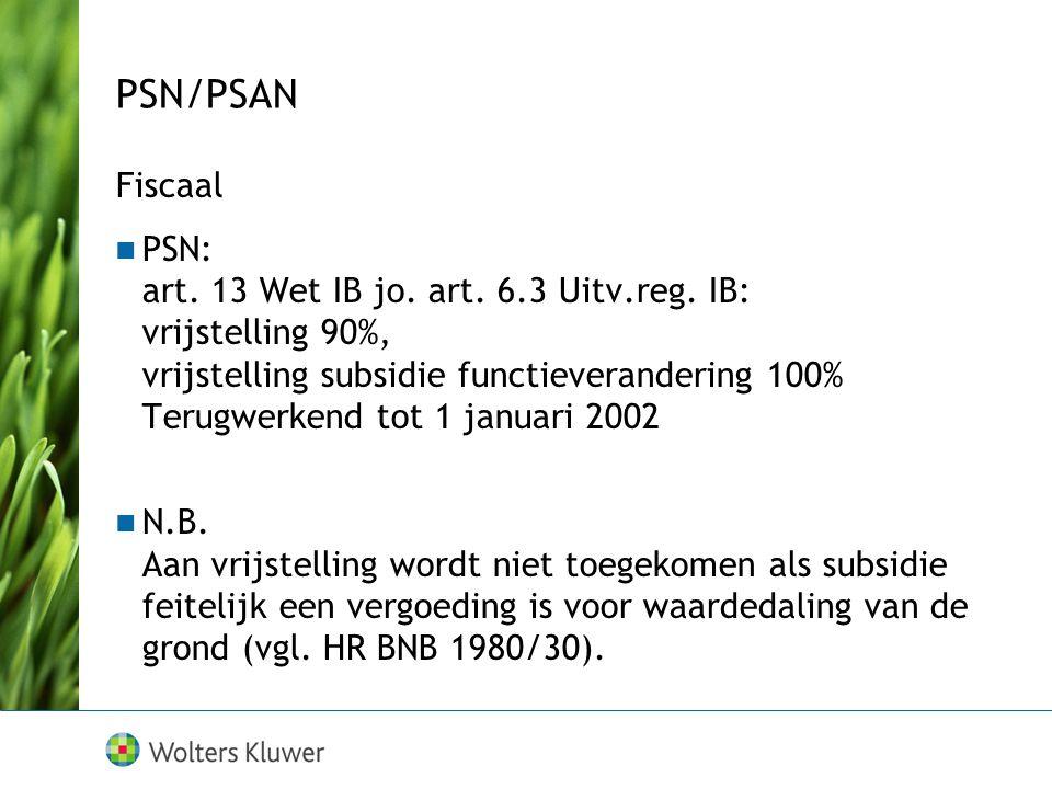 PSN/PSAN Fiscaal.