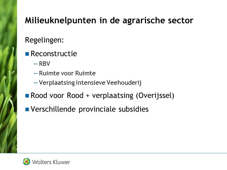 Milieuknelpunten in de agrarische sector