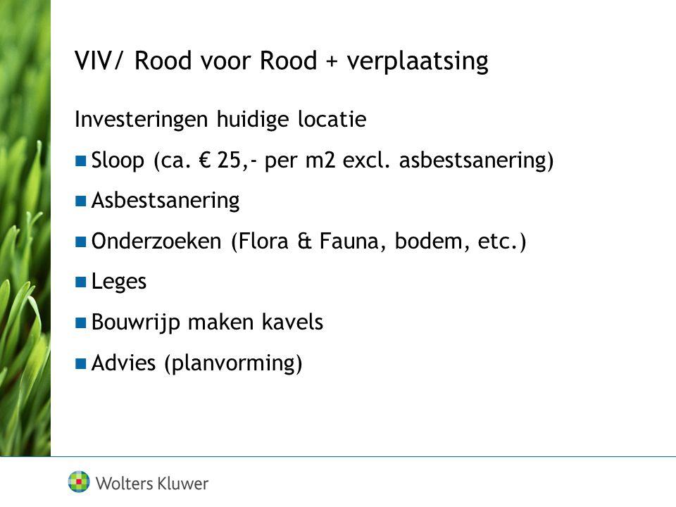 VIV/ Rood voor Rood + verplaatsing