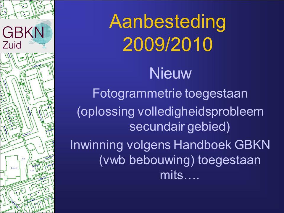 Aanbesteding 2009/2010 Nieuw Fotogrammetrie toegestaan