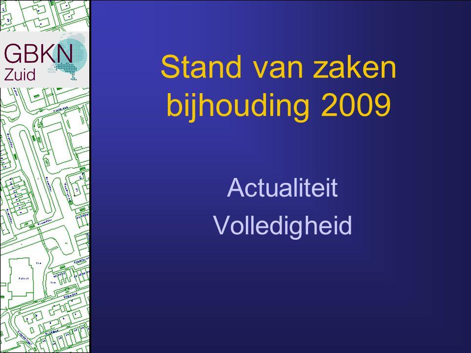 Stand van zaken bijhouding 2009