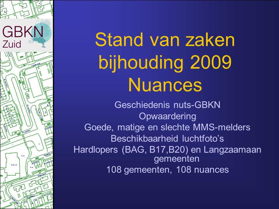 Stand van zaken bijhouding 2009 Nuances