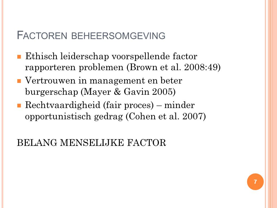 Factoren beheersomgeving