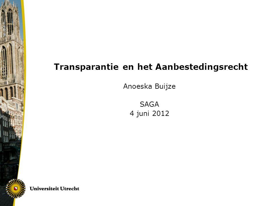 Transparantie en het Aanbestedingsrecht