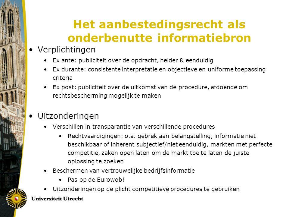 Het aanbestedingsrecht als onderbenutte informatiebron