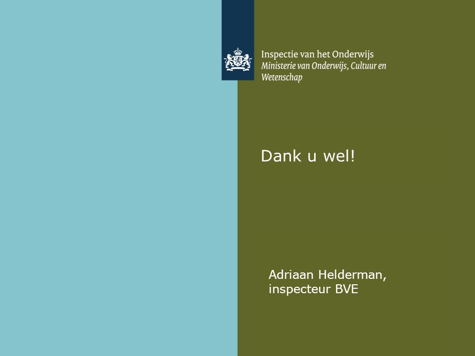 Adriaan Helderman, inspecteur BVE