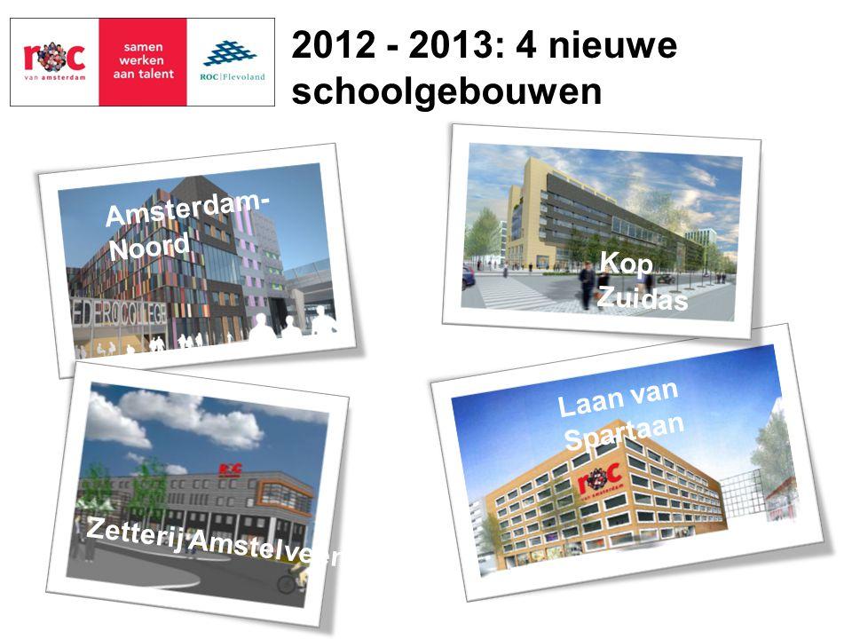 2012 - 2013: 4 nieuwe schoolgebouwen