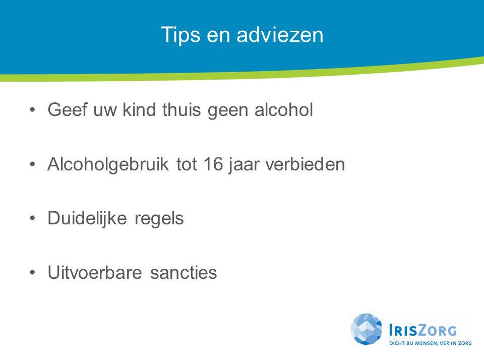 Tips en adviezen Geef uw kind thuis geen alcohol
