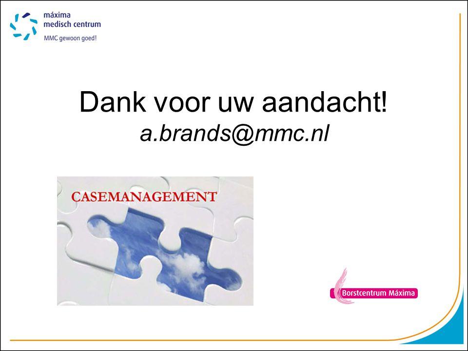 Dank voor uw aandacht! a.brands@mmc.nl
