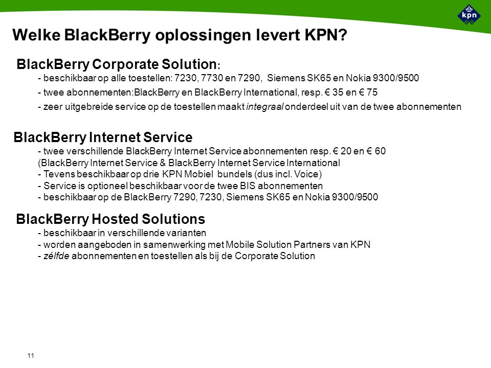 Hoe werkt de BlackBerry Corporate Solution