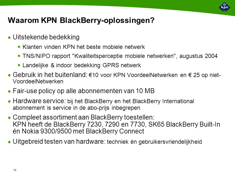 Business model voor BlackBerry