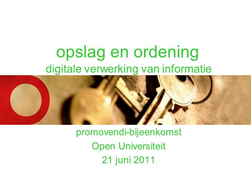 opslag en ordening digitale verwerking van informatie