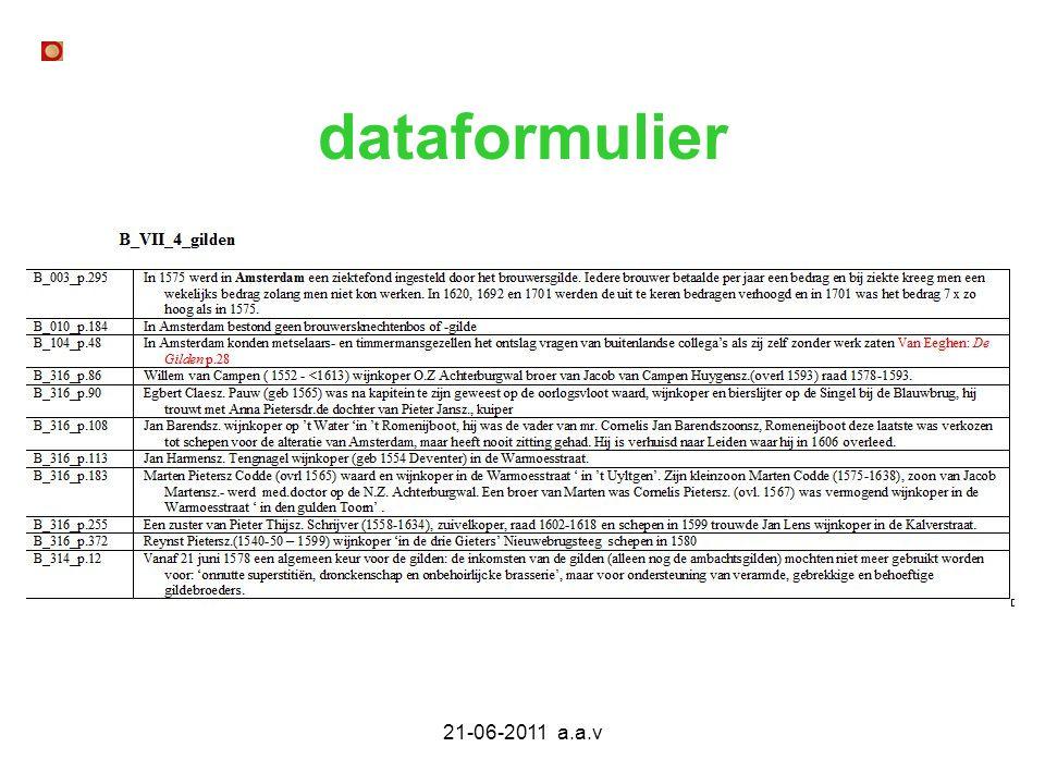 dataformulier