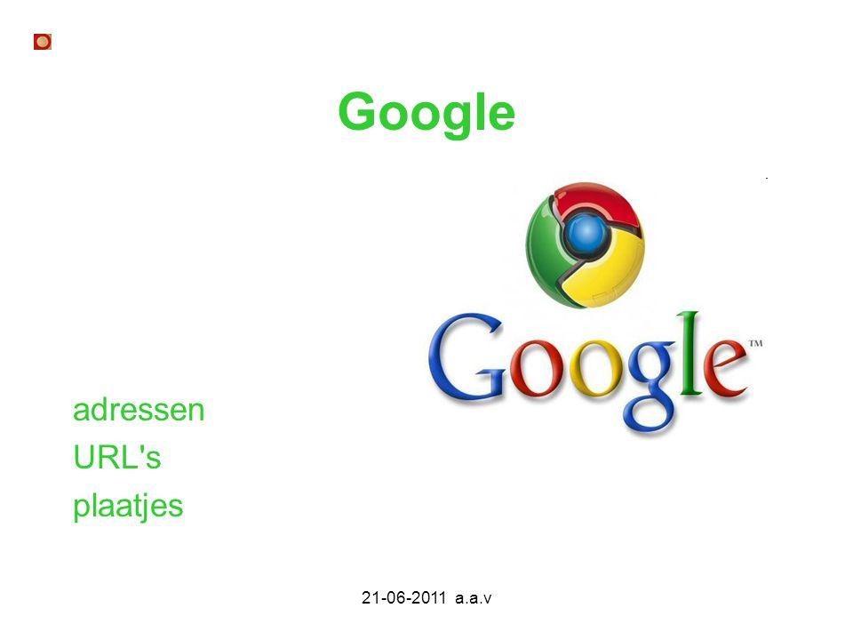 Google adressen URL s plaatjes 21-06-2011 a.a.v