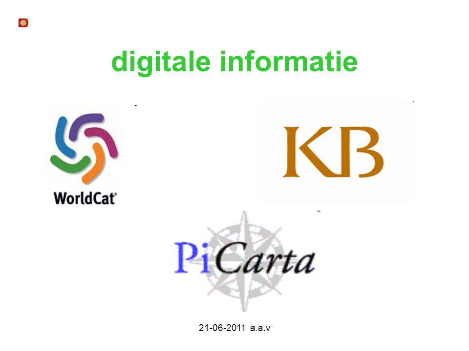 digitale informatie 21-06-2011 a.a.v