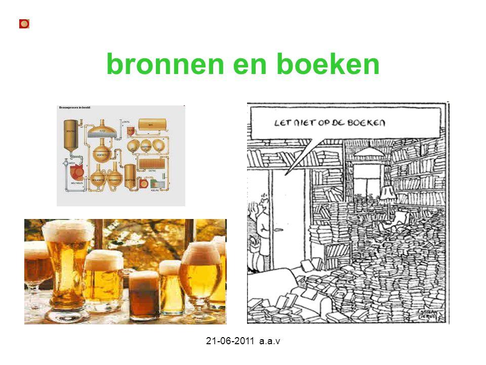 bronnen en boeken 21-06-2011 a.a.v
