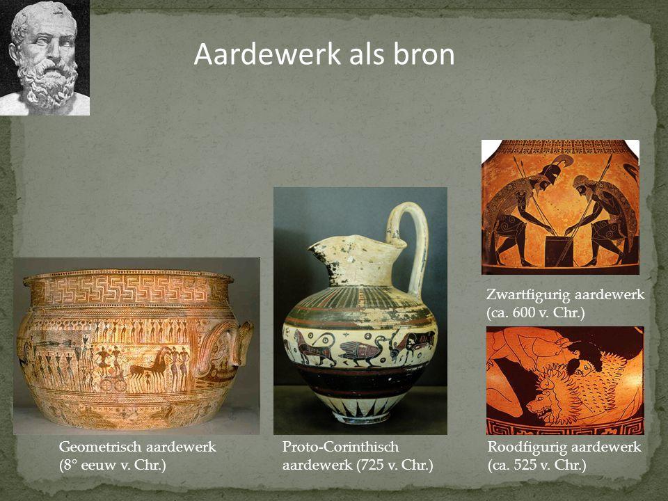 Aardewerk als bron Zwartfigurig aardewerk (ca. 600 v. Chr.)
