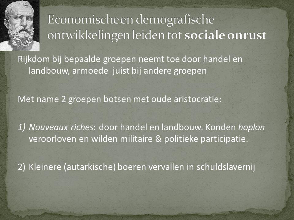 Economische en demografische ontwikkelingen leiden tot sociale onrust