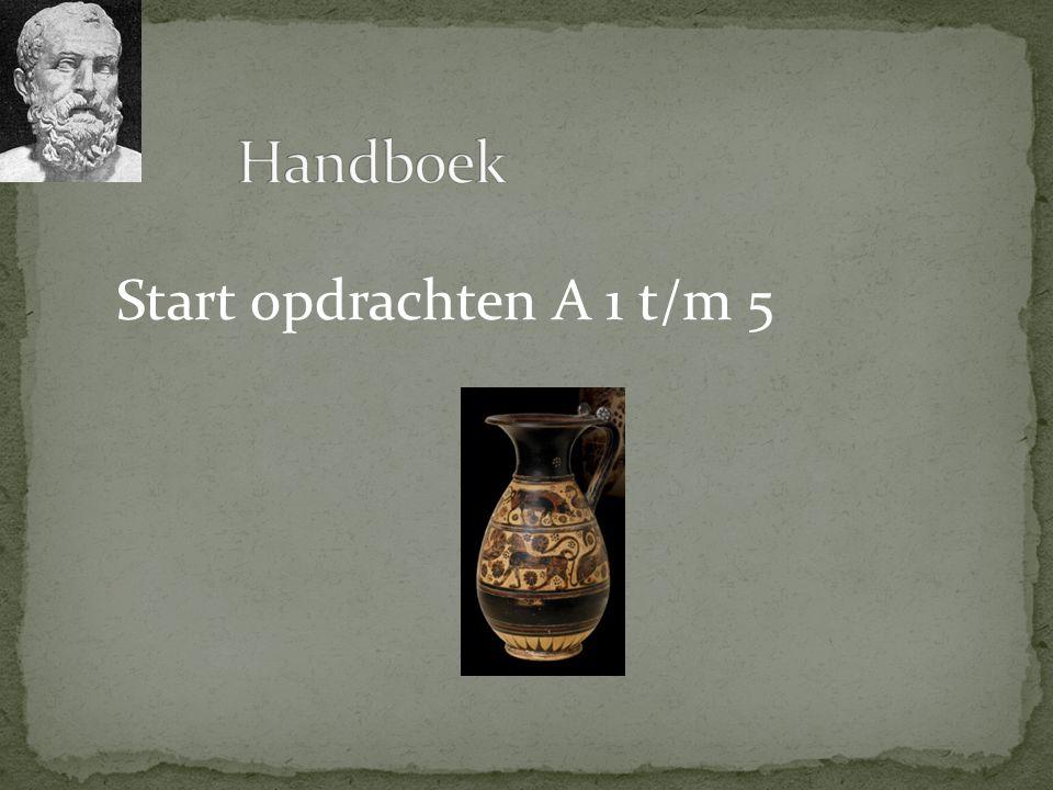 Handboek Start opdrachten A 1 t/m 5