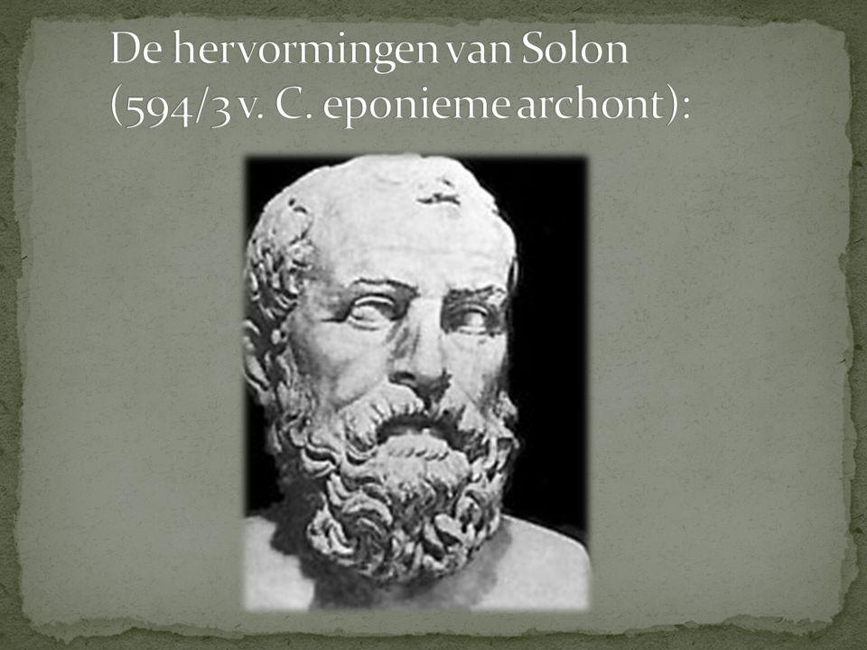 De hervormingen van Solon (594/3 v. C. eponieme archont):