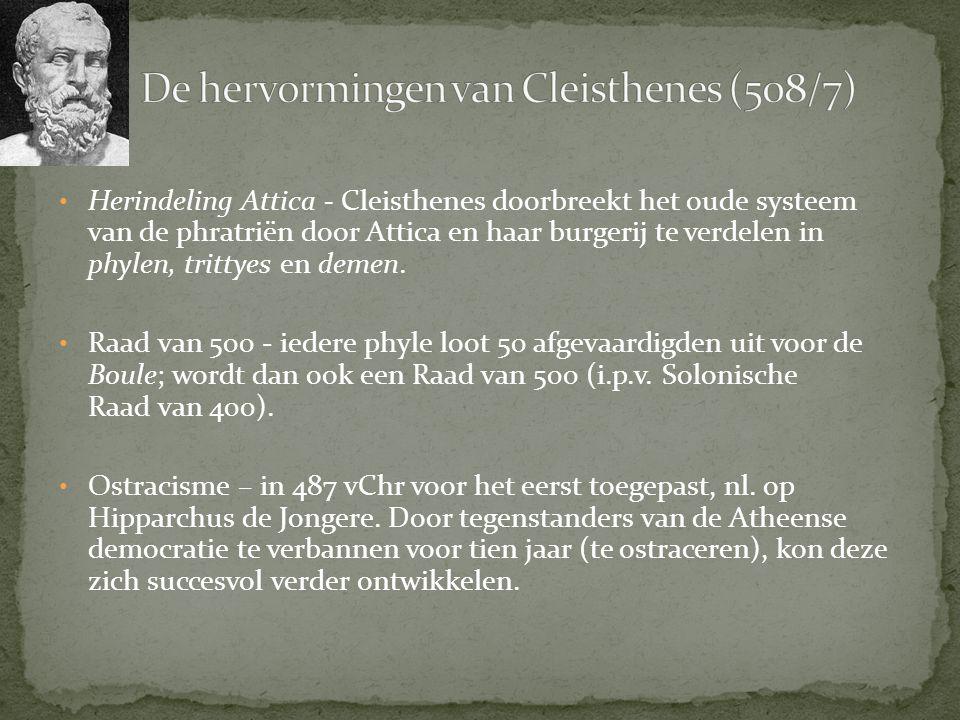 De hervormingen van Cleisthenes (508/7)