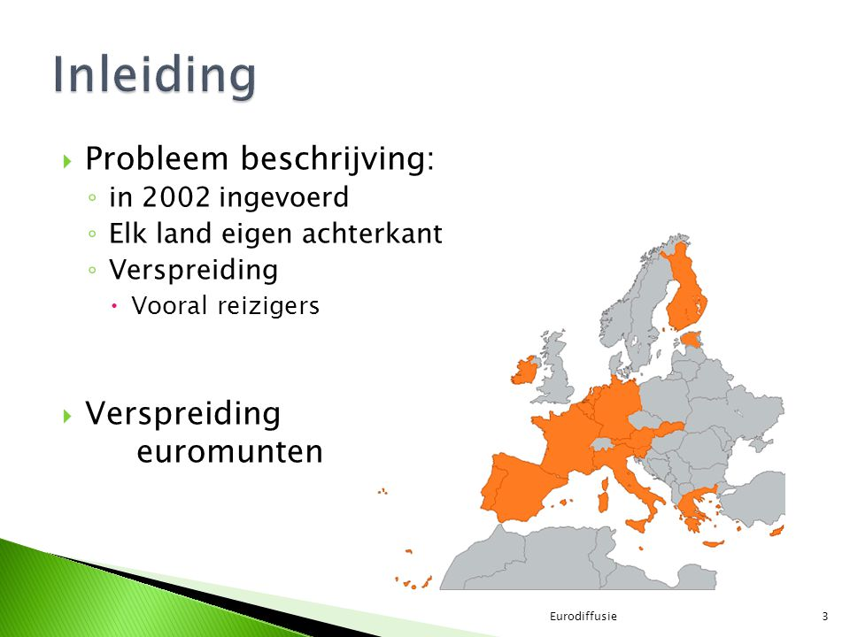 Inleiding Probleem beschrijving: Verspreiding euromunten