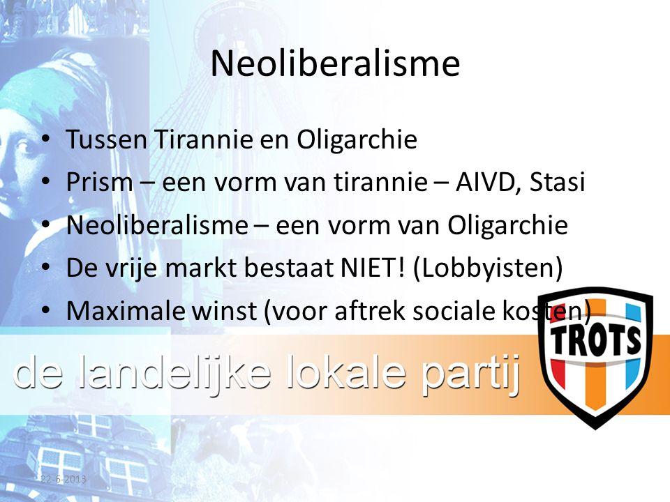 Neoliberalisme Tussen Tirannie en Oligarchie