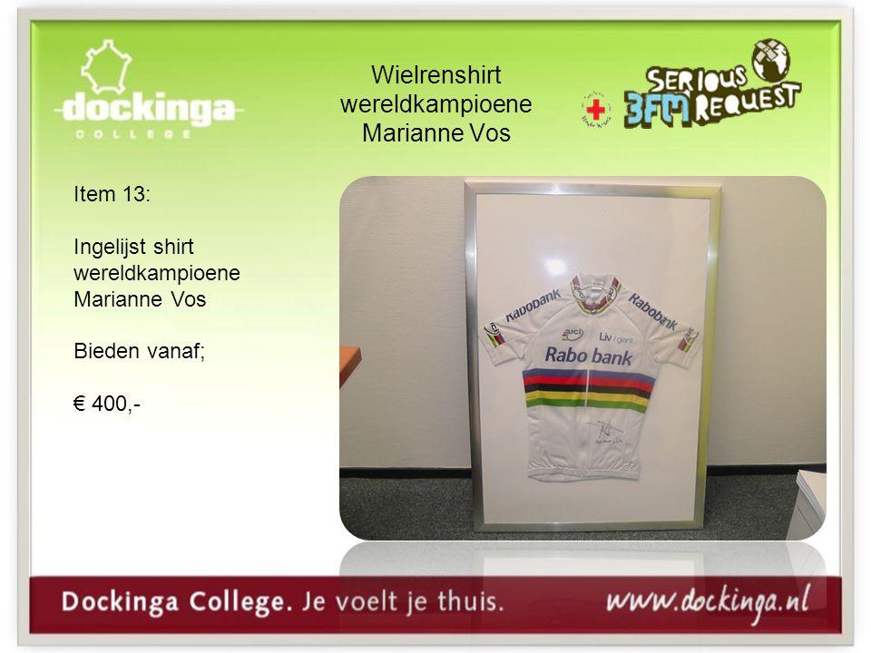 Wielrenshirt wereldkampioene Marianne Vos