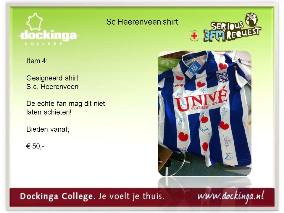 Sc Heerenveen shirt Item 4: Gesigneerd shirt S.c. Heerenveen