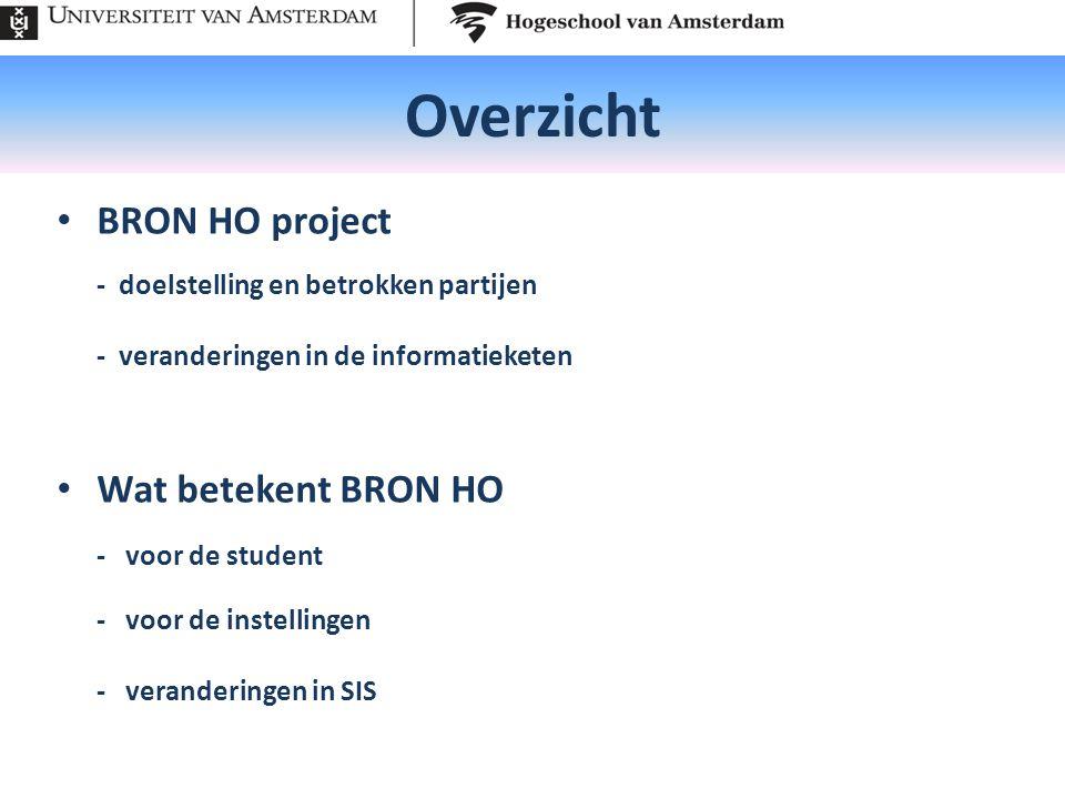Overzicht BRON HO project Wat betekent BRON HO