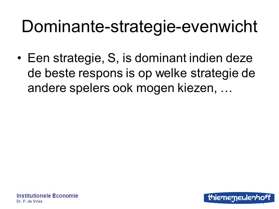 Dominante-strategie-evenwicht
