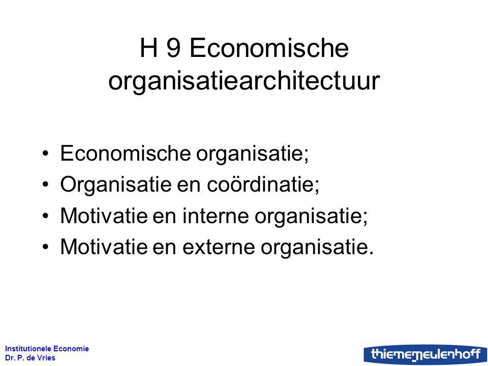 H 9 Economische organisatiearchitectuur