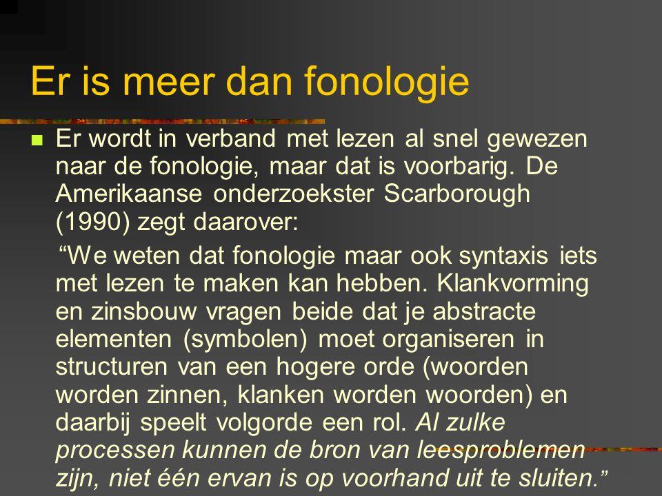 Er is meer dan fonologie