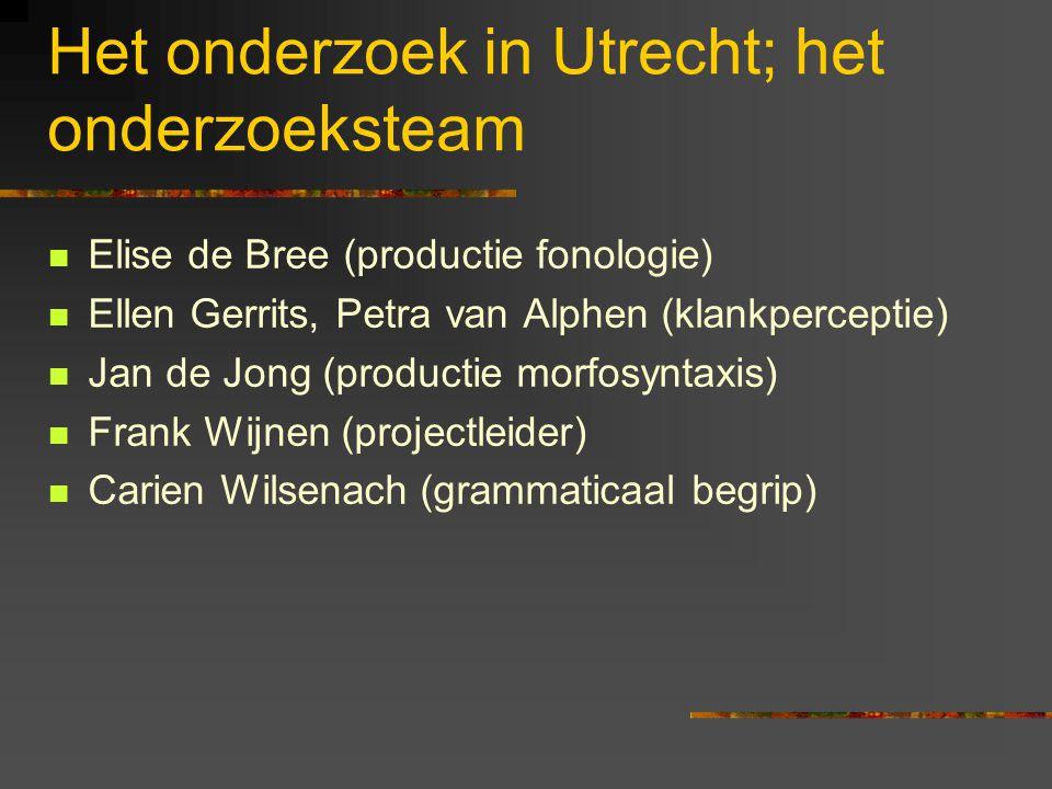 Het onderzoek in Utrecht; het onderzoeksteam