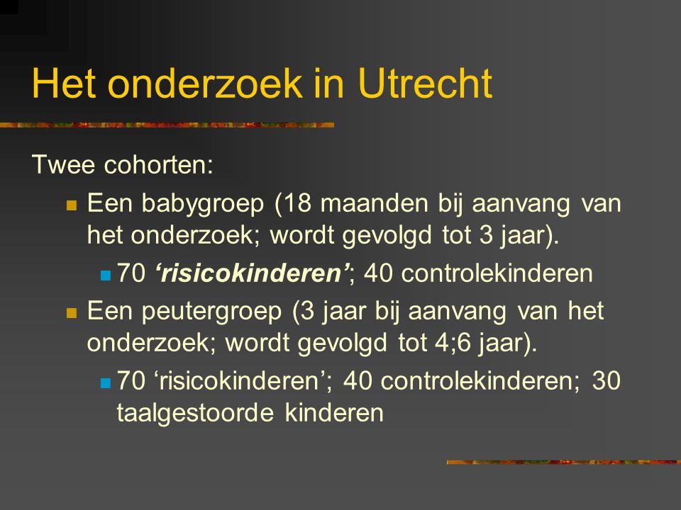 Het onderzoek in Utrecht