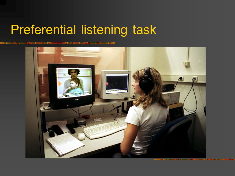 Preferential listening task