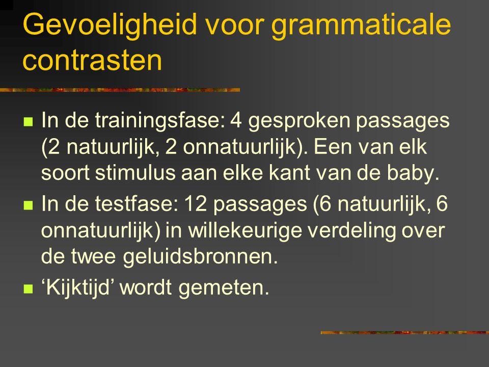Gevoeligheid voor grammaticale contrasten