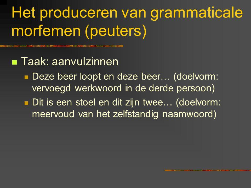 Het produceren van grammaticale morfemen (peuters)