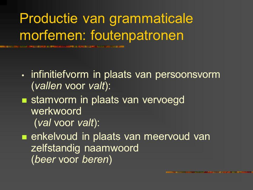 Productie van grammaticale morfemen: foutenpatronen