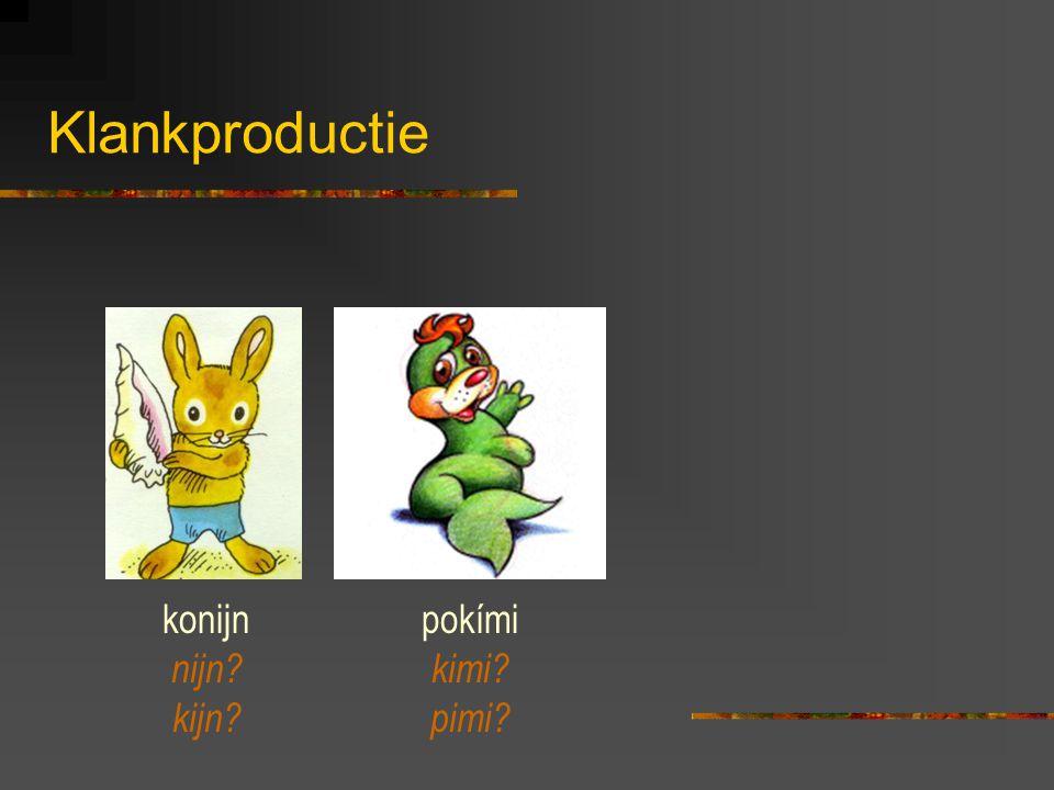 Klankproductie konijn nijn kijn pokími kimi pimi
