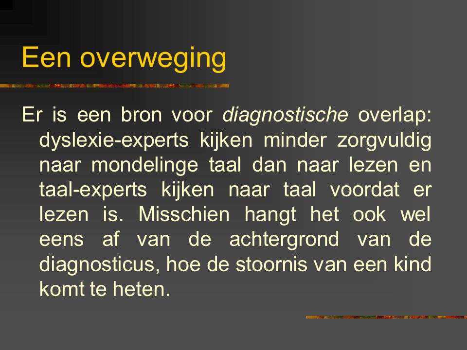 Een overweging