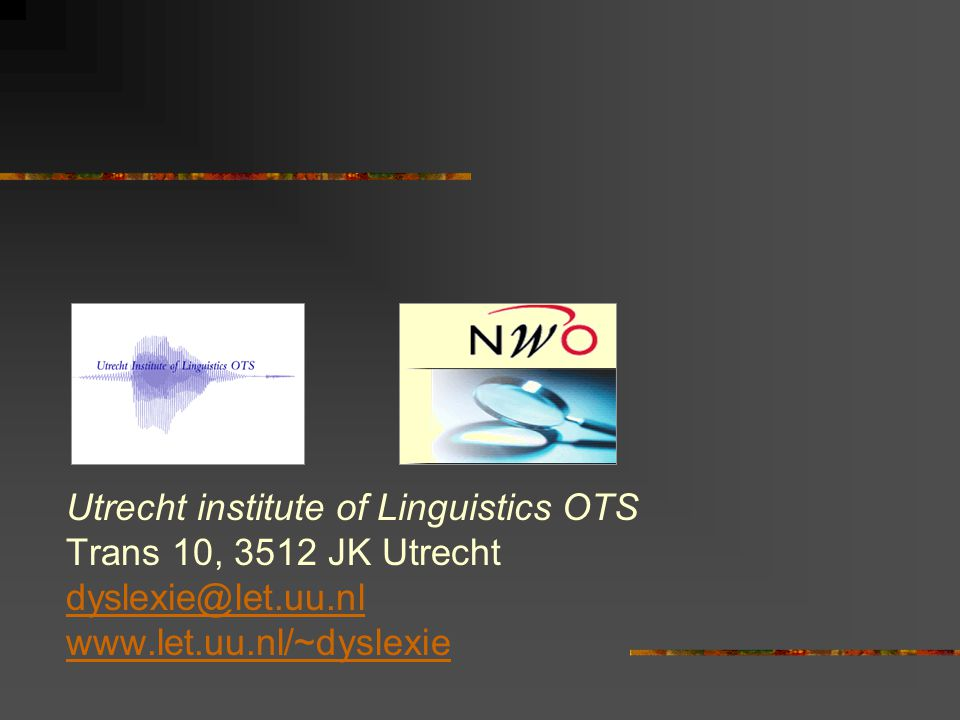 Utrecht institute of Linguistics OTS