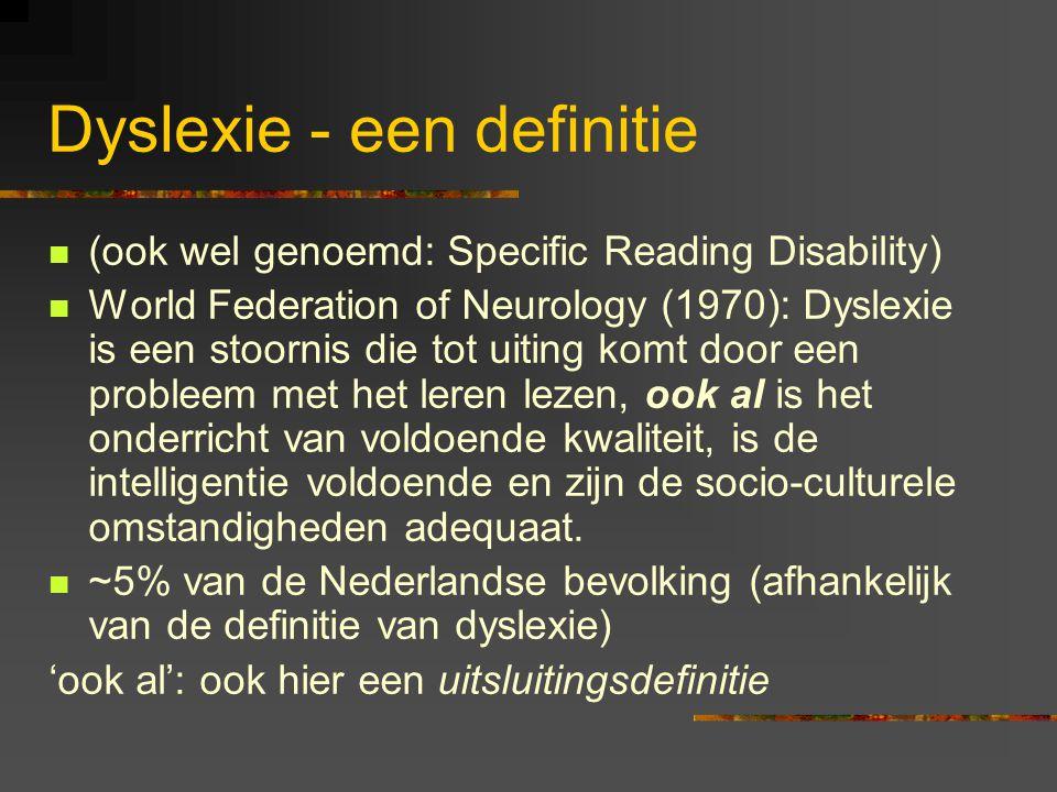 Dyslexie - een definitie