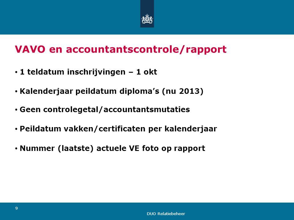 VAVO en accountantscontrole/rapport